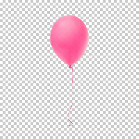 Realistic pink balloon. Illustration