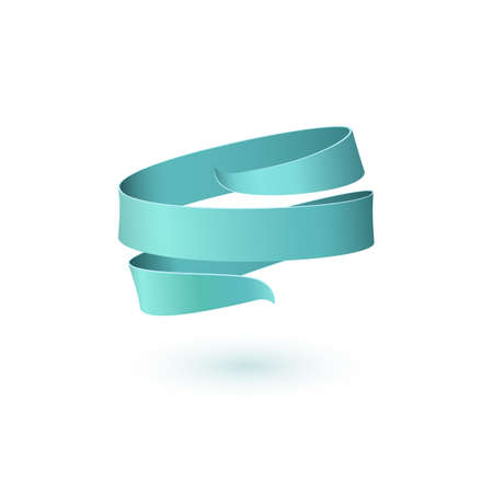 Blue blank ribbon. Banner template for your projects.