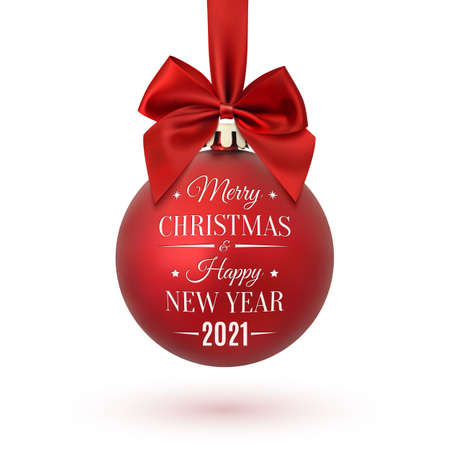 Merry Christmas and Happy New Year 2021 christmas tree ball.