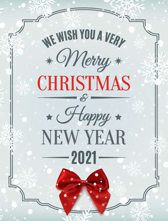 Merry Christmas and Happy New Year 2021 design.
