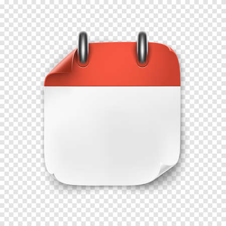 Realistic blank calendar icon. Vector illustration for your projects. Ilustrace