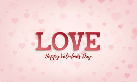 Valentines Day greeting card template. Abstract background, brochure or poster.