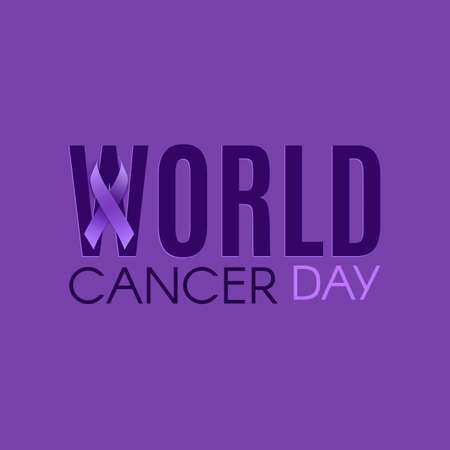 World cancer day poster, banner or brochure template.