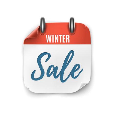 Winter sale. Realistic calendar icon isolated on white background. Illusztráció