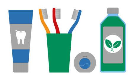 Dental cleaning tools. Vector illustration.