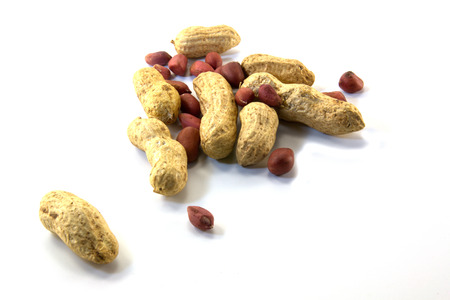 monkey nut: Peanuts, crude is isolated on a white background