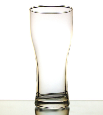 Glass beer mug is isolated on a white background
