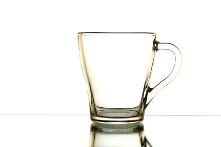 glass cup: glass tea cup is isolated on a white background