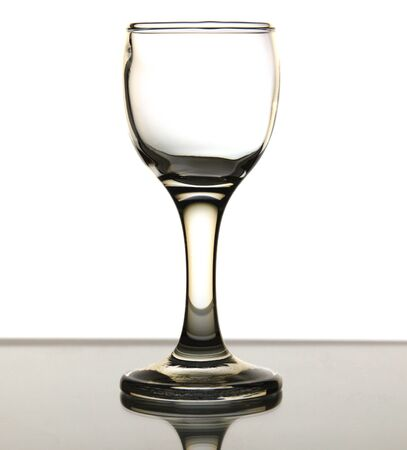 sulphide: One glass is isolated on a white background