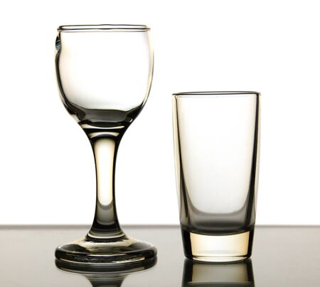 sulphide: Two glass is isolated on a white background