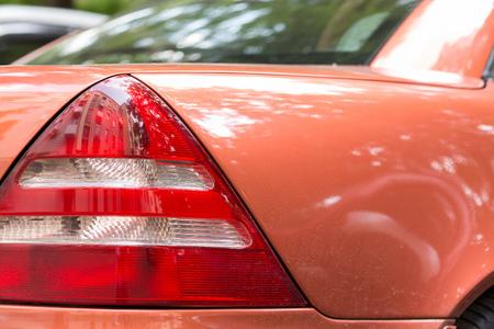 headlight: automobile headlight. close-up
