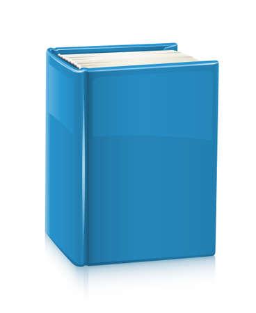 portadas de libros: libro con la ilustraci�n de la portada azul aislado en fondo blanco