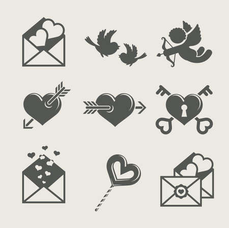 sobres para carta: San Valent�n Vectores