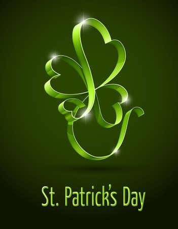 green clover for saint patricks day vector illustration.