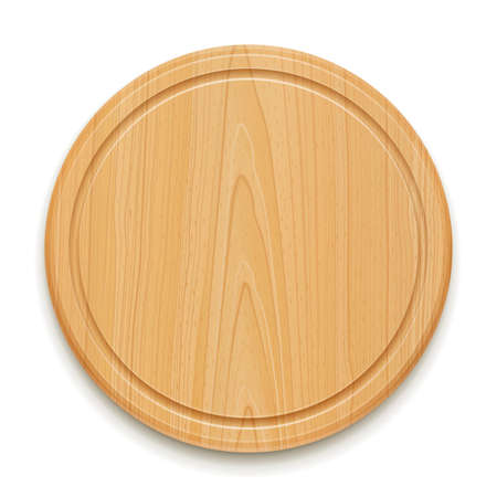 kitchen cutting board vector illustration isolated on white background. Ilustrace