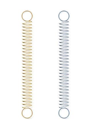 steel spring vector illustration isolated on white background Vettoriali