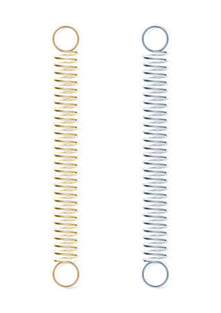 spirale: Stahlfeder Vektor-Illustration isoliert auf weißem Hintergrund Illustration