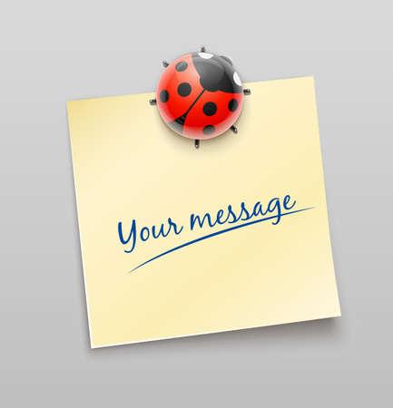 ladybird on sheet illustration