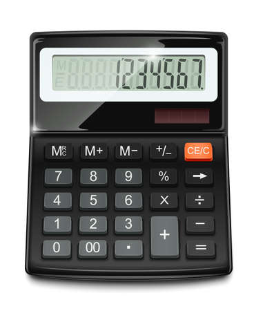 electronic calculator vector illustration isolated on white background