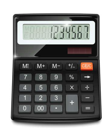 calculadora: ilustraci�n vectorial calculadora electr�nica aisladas sobre fondo blanco