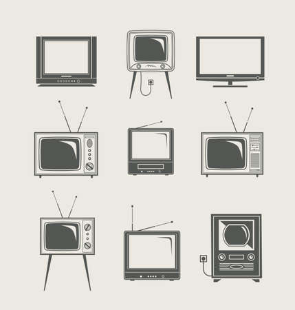 tv set icon new and vintage vector illustration Vettoriali