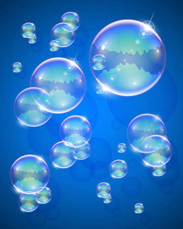 neatness: soap bubble for message