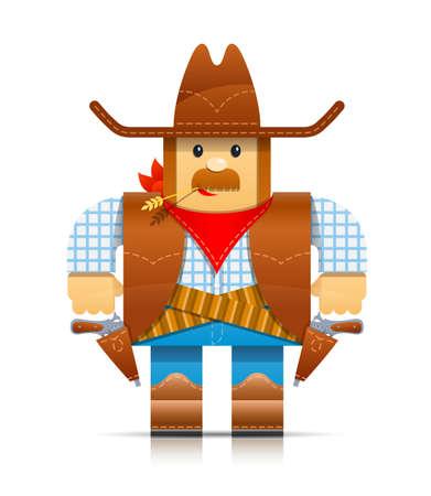 folks: cowboy origami toy