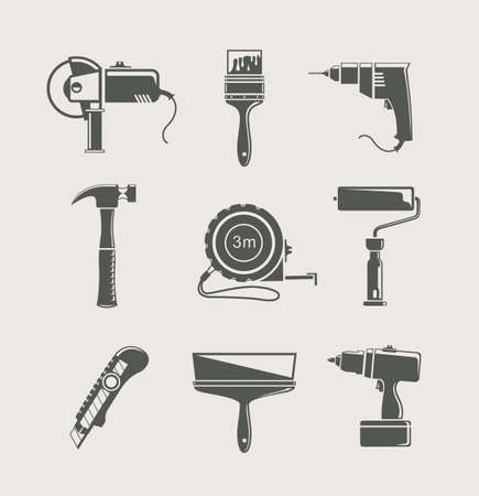 home repair: building tool icon  isolated on background