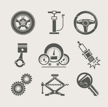 piezas coche: reglajes del coche parte de la reparación icono