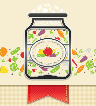 art product: can with canned vegetables. food background  illustration . Transparent objects and opacity masks used for shadows and lights drawing