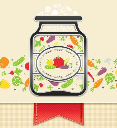 Dose mit Gemüsekonserven. Lebensmittel Hintergrund Illustration. Transparente Objekte und Deckkraftmasken für Schatten und Lichter Zeichnen verwendet