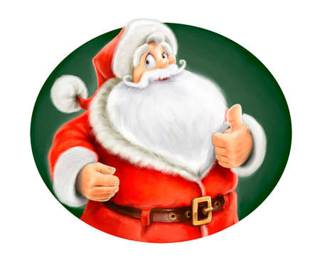 Santa Claus show ok isolated on white background Stock Photo - 15776391