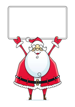 Santa Claus with sign illustration isolated on white background