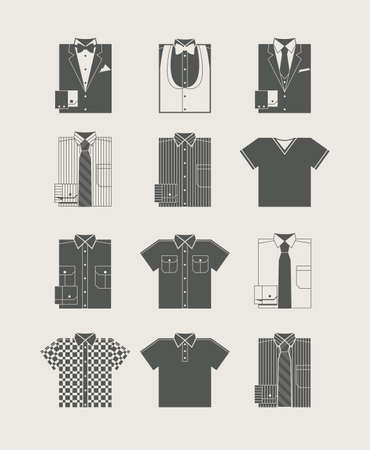 Menswear. Icon set. Vector illustration Иллюстрация