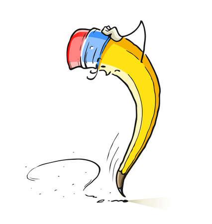 grafito: dibujos animados pregunta plomo ilustración lápiz aislados en fondo blanco
