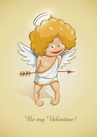 festal: angel cupid for valentines day Illustration