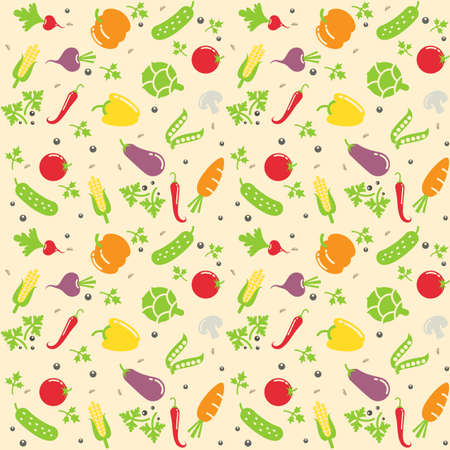 seamless vegetable texture vector illustration Stock Vector - 18292544