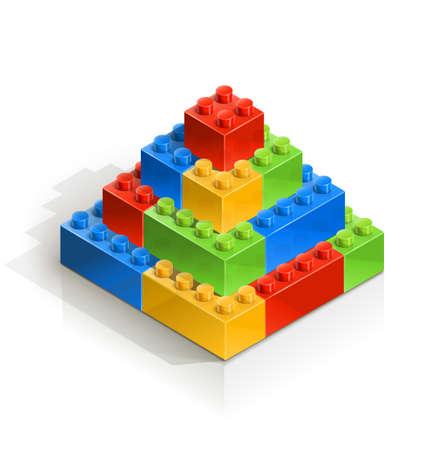 brick piramid meccano toy