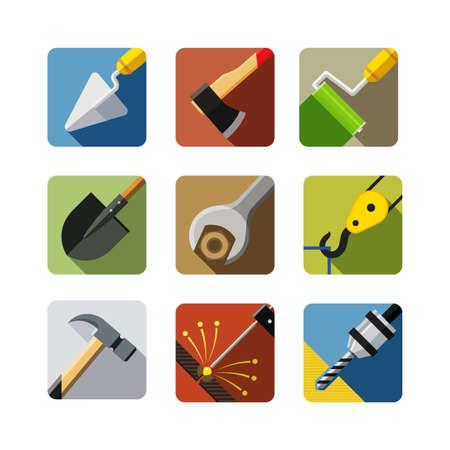 ios: la construction d'outils ic?ne Illustration