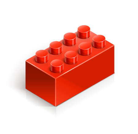 brick meccano toy vector illustration