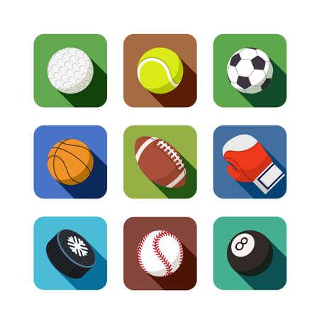 Icone dello sport. set di illustrazione vettoriale Archivio Fotografico - 21584522