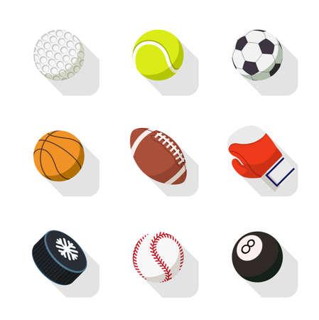 sport iconen Stock Illustratie
