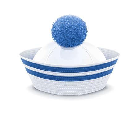 peaked cap: Sailor cap.  Illustration
