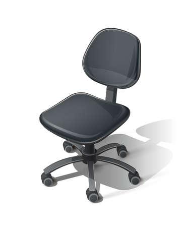 Noir chaise de bureau. Vecteurs