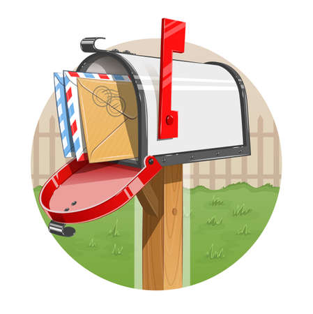 mail box: Mail box with letters.