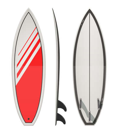 Surfing board. Eps10 vector illustration. Isolated on white background Vettoriali