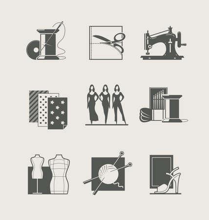 stitching machine: Sewing Set illustration Illustration