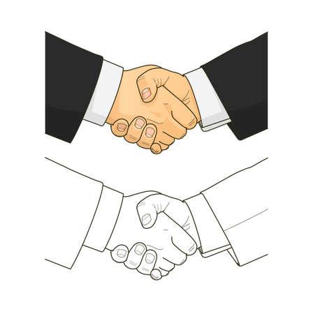 handclasp: Male handshake
