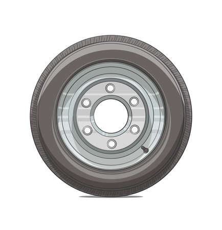wheel illustration isolated on white background  Illustration