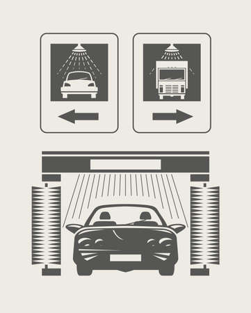 cleanness: Car wash Set icons